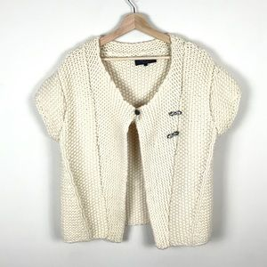 RAG & BONE Cream Cable Knit Cropped Cardigan - 4